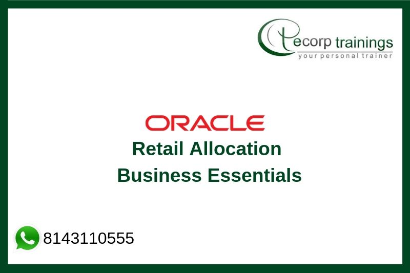 Oracle Retail Allocation Business Essentials Training