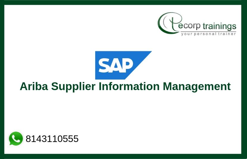 Sap Ariba Supplier Information Management Training