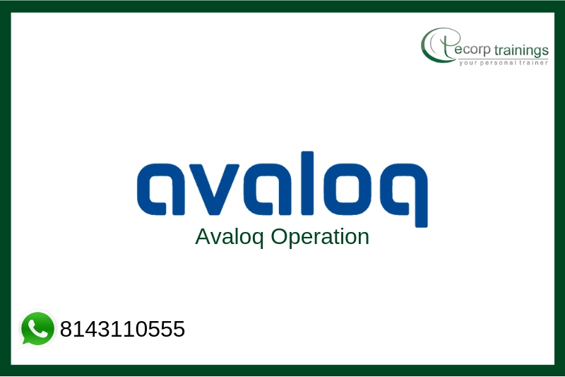 Avaloq Operation Training