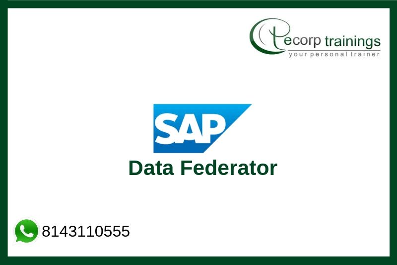 SAP Business Objects Data Federator Training