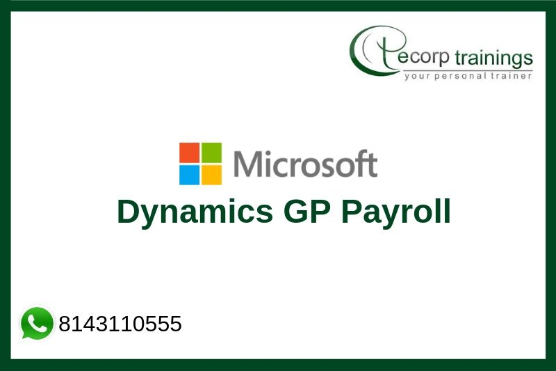 Dynamics GP Payroll / Human Resource Management Training