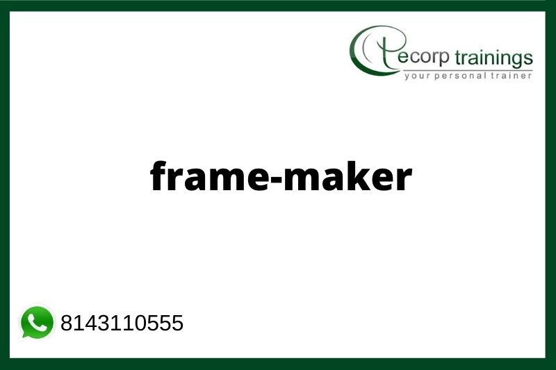 Adobe FrameMaker Training