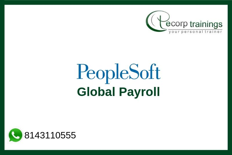 PeopleSoft Global Payroll Training
