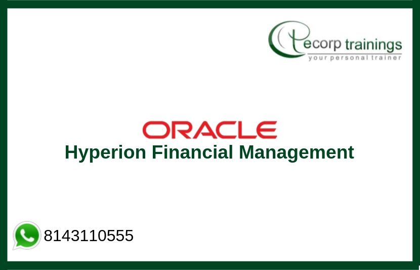 Oracle Hyperion Financial Management Training