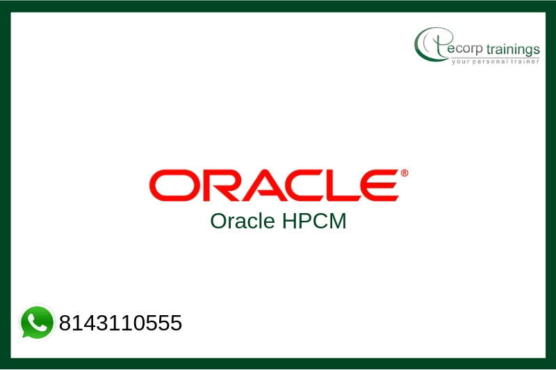 Oracle HPCM Training