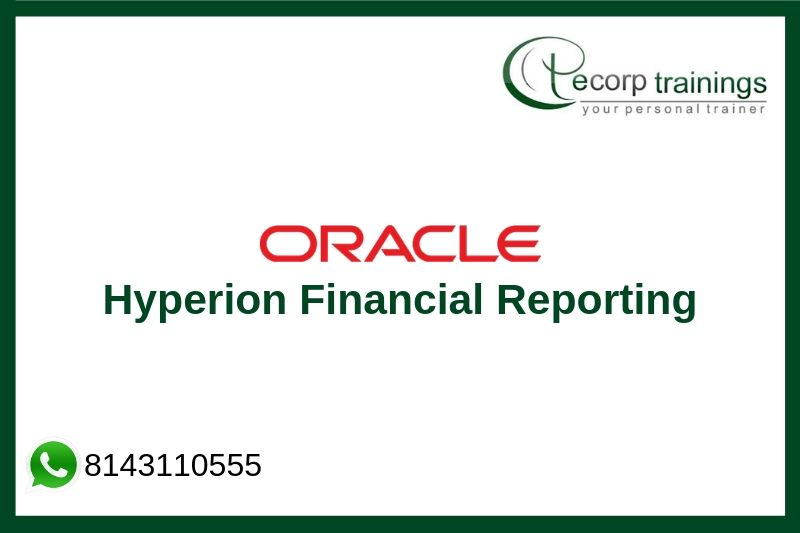 Oracle Hyperion Financial Reporting Training