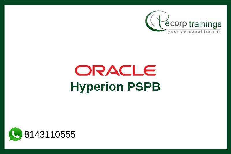 Oracle Hyperion PSPB Training