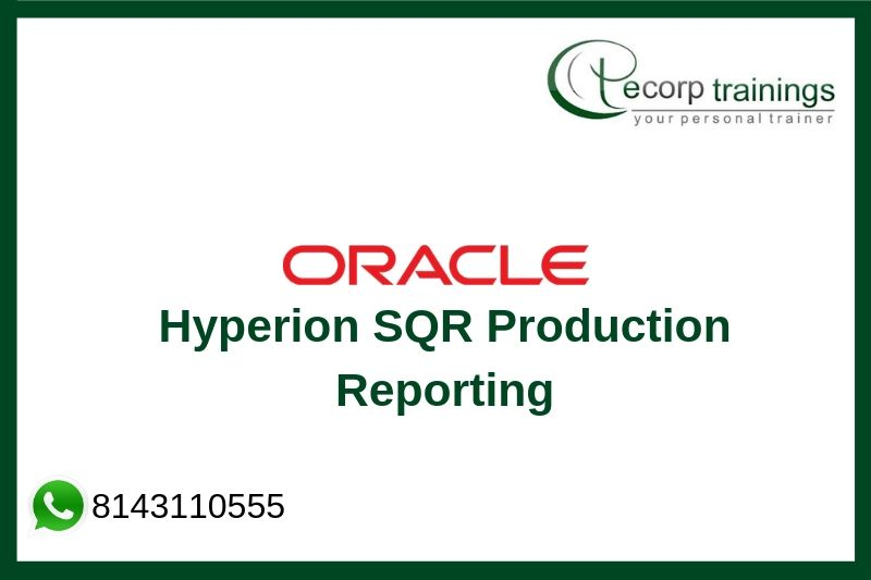Hyperion SQR Production Reporting Training