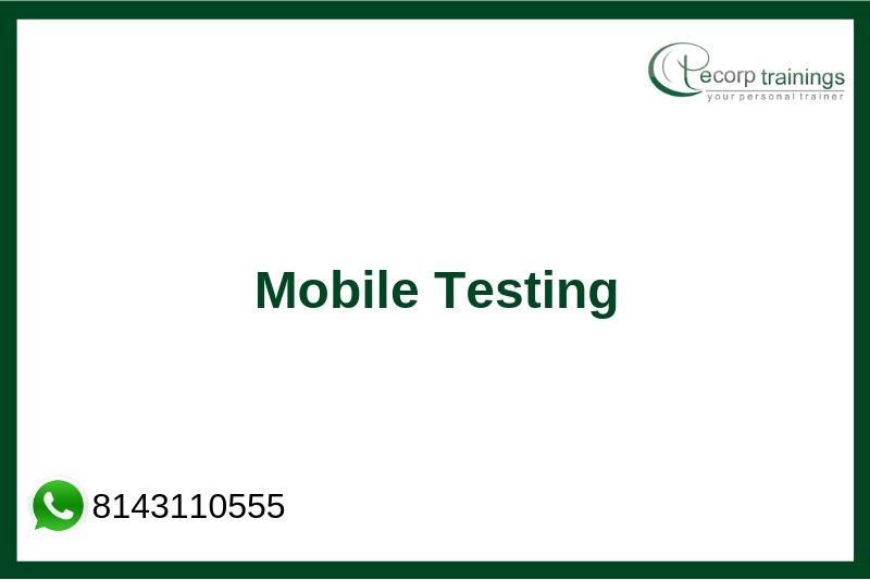 Mobile Testing Training