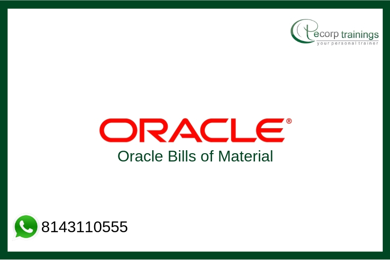 Oracle Bills of Material Training