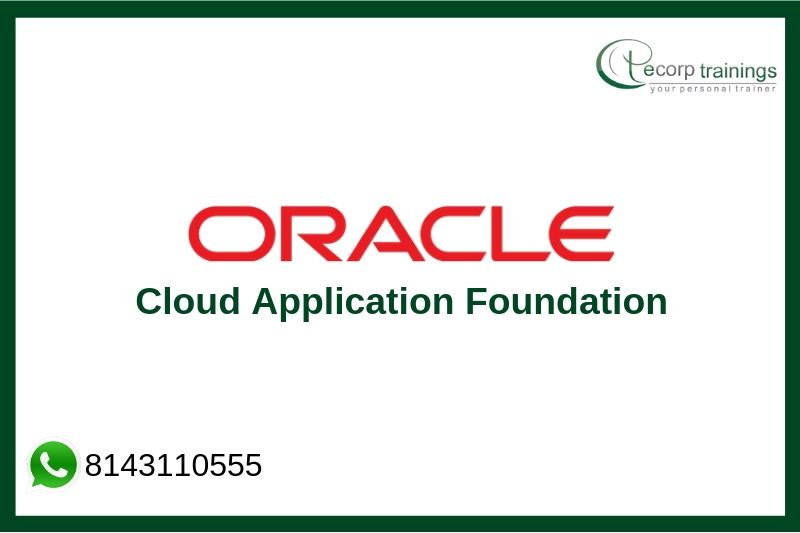 Oracle Cloud Application Foundation Training