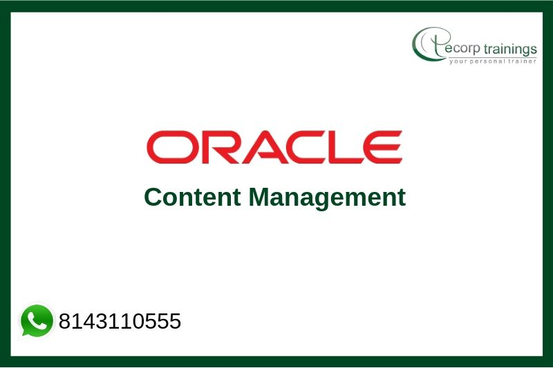 Oracle Content Management Training