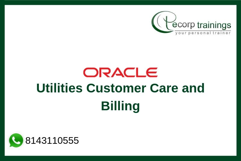 Oracle Utilities Customer Care and Billing Training