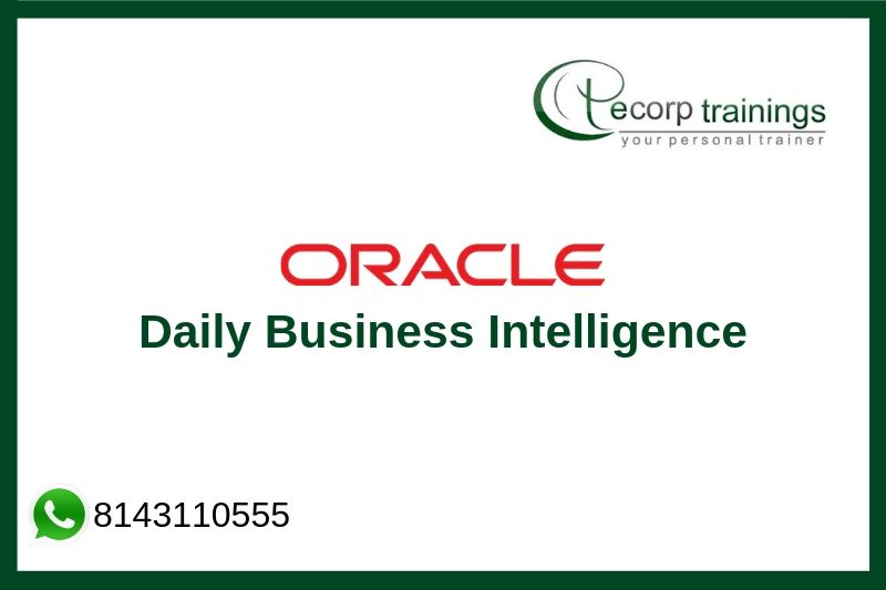 Oracle Daily Business Intelligence Training