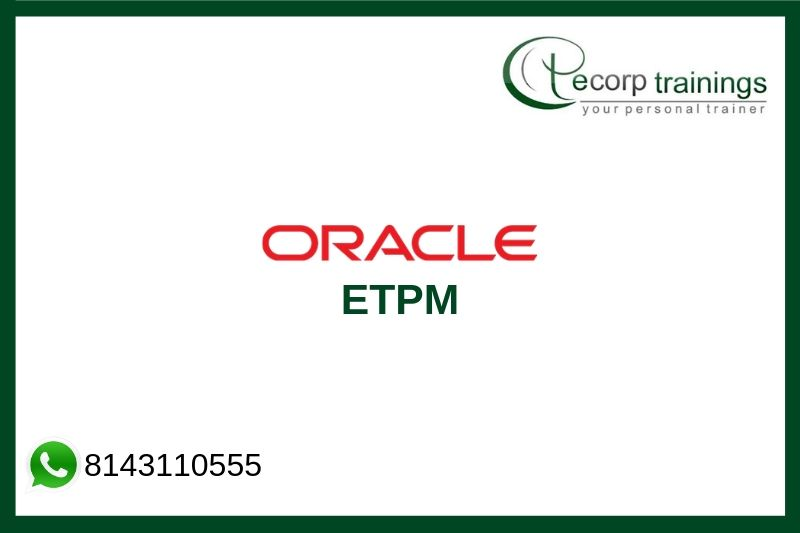 Oracle ETPM Training