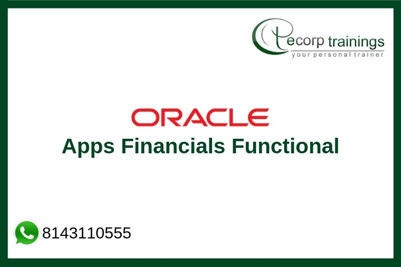 Oracle Apps R12 Financials Functional Training