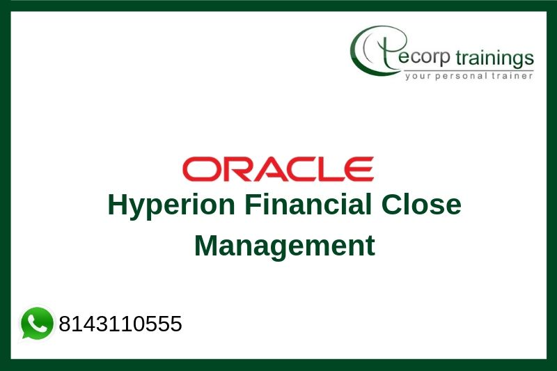 Oracle Hyperion Financial Close Management Training