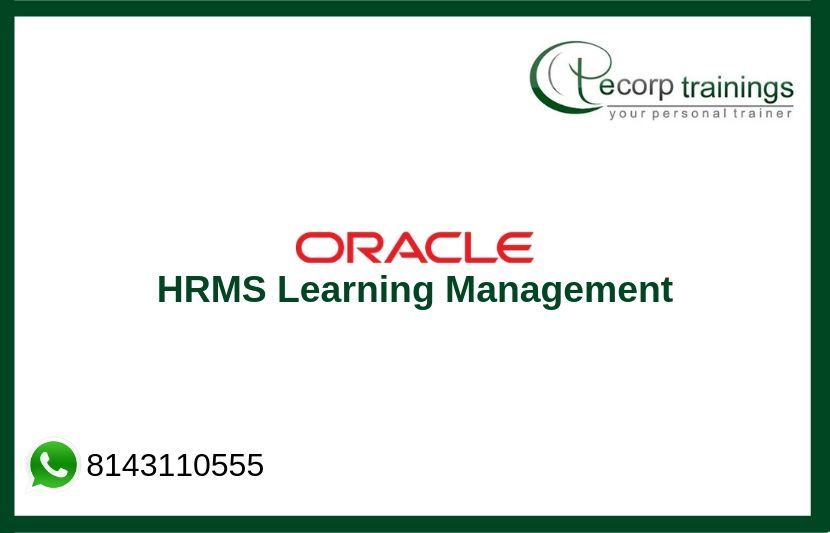 Oracle HRMS Learning Management Training