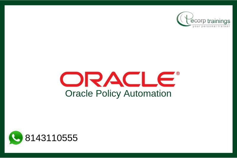 Oracle Policy Automation Training