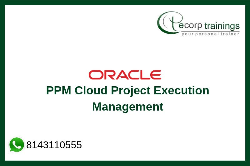 Oracle PPM Cloud Project Execution Management Training