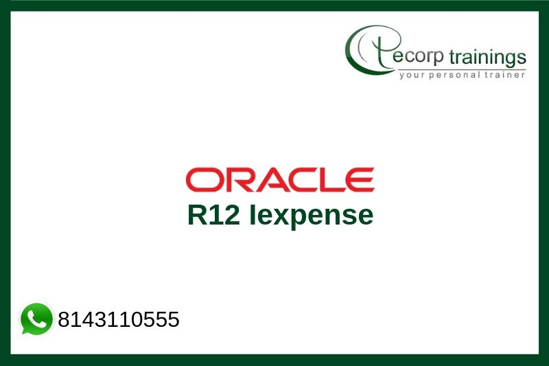 Oracle R12 Iexpense Training