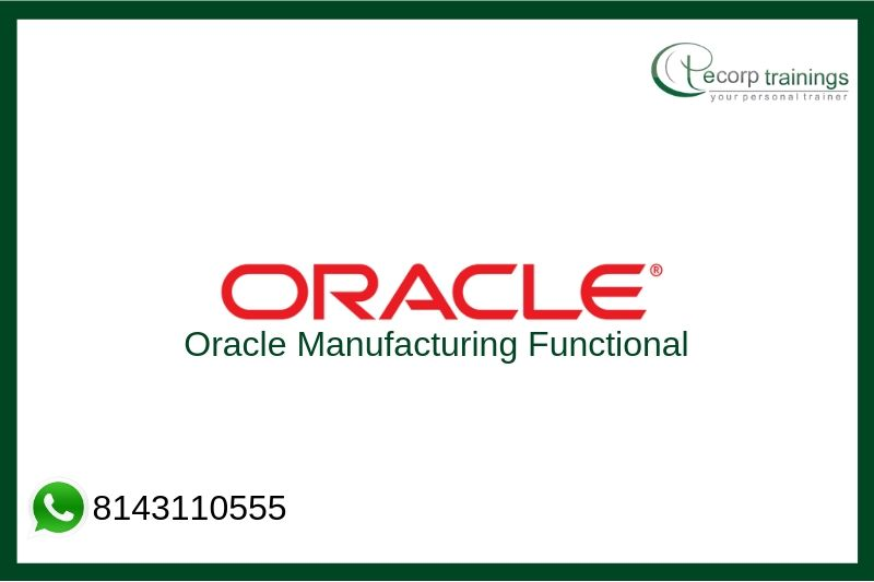 Oracle Manufacturing Functional Training
