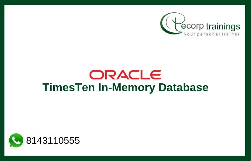 Oracle TimesTen In-Memory Database Training