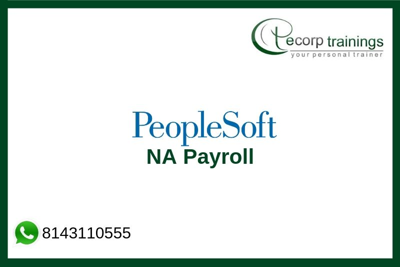 PeopleSoft NA Payroll Training