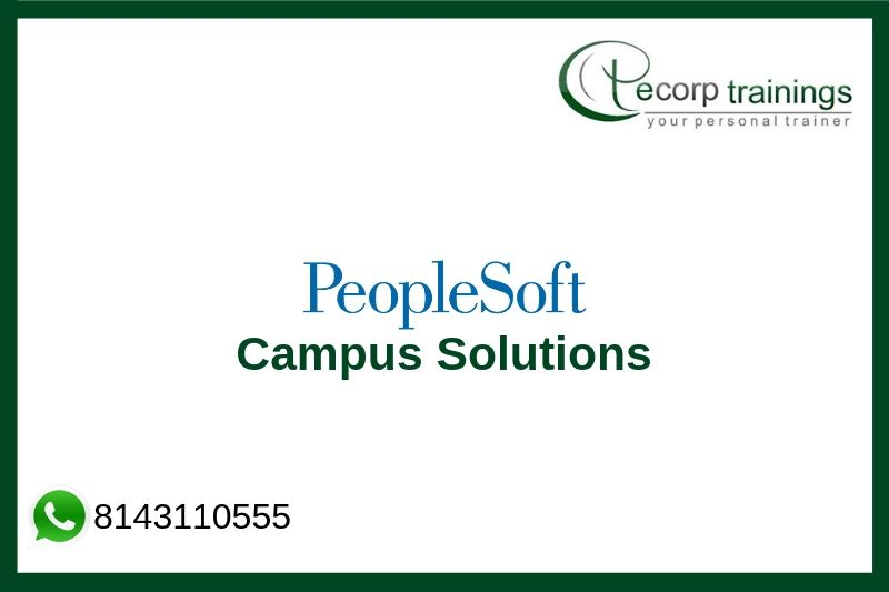 PeopleSoft Campus Solutions Training