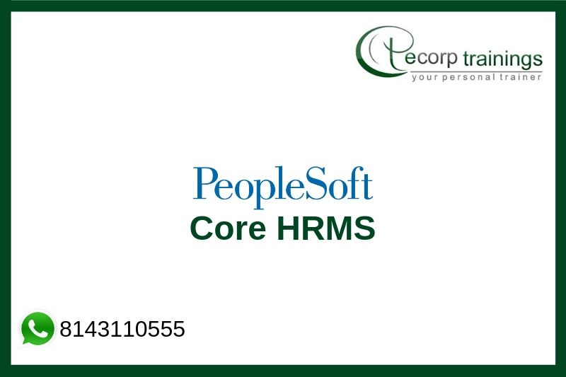 Peoplesoft HRMS Training