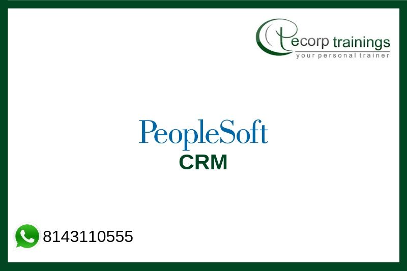 PeopleSoft CRM Training