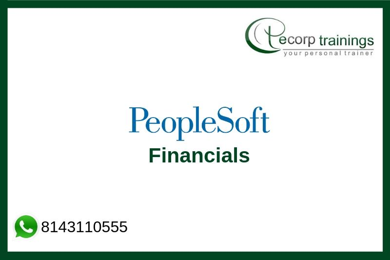 Peoplesoft Financials Training