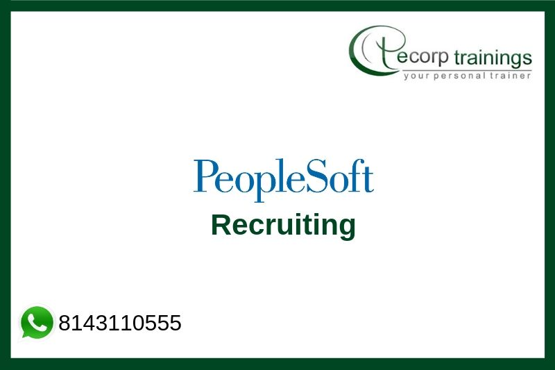 PeopleSoft Recruiting Training