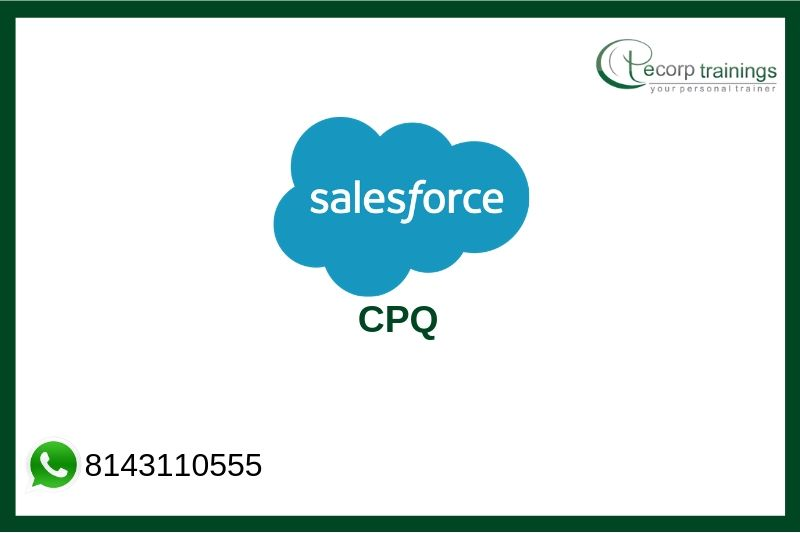 Salesforce CPQ Training Courses, Salesforce CPQ Online Training
