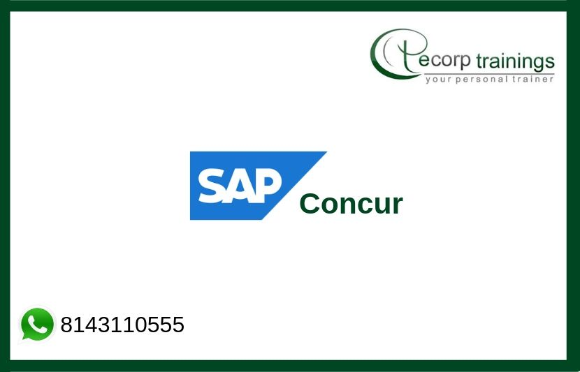 SAP Concur Training Courses, SAP Concur Online Training