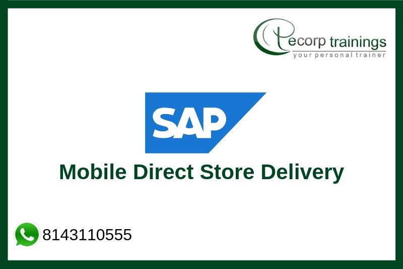 SAP Direct Store Delivery Training