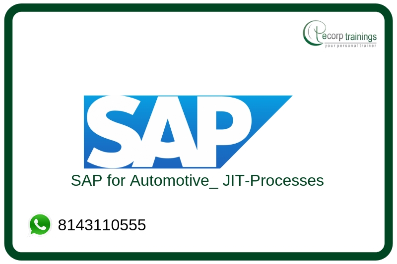 SAP for Automotive: JIT-Processes  Training