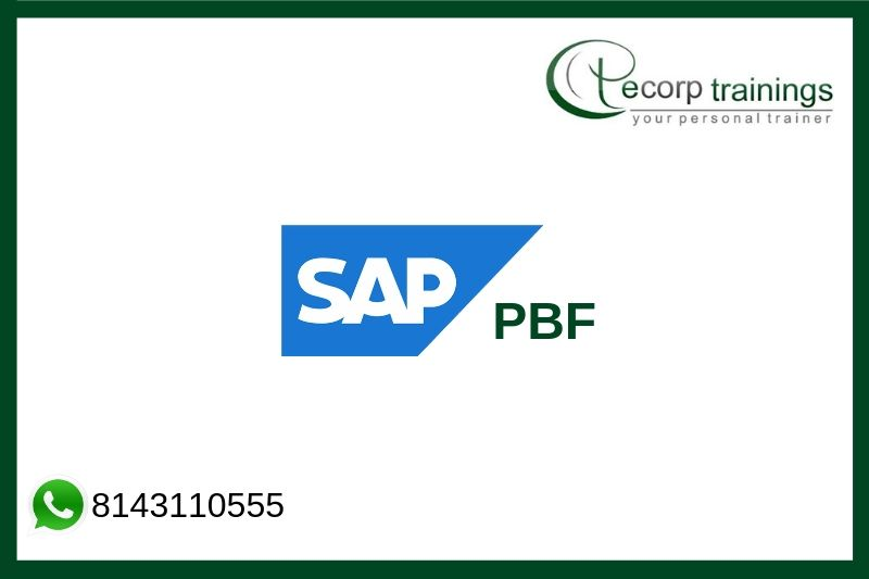 SAP PBF Training