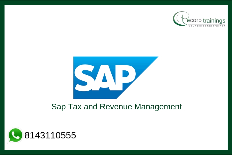 Sap Tax and Revenue Management Training