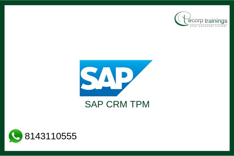 SAP CRM TPM Training