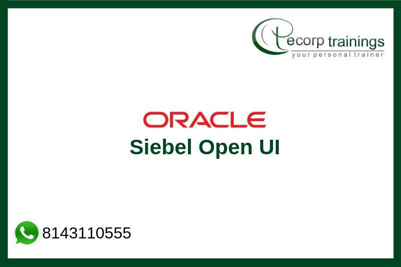 Siebel Open UI Training