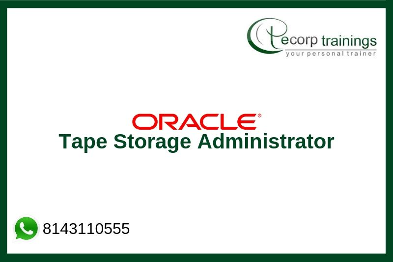 Tape Storage Administrator Training