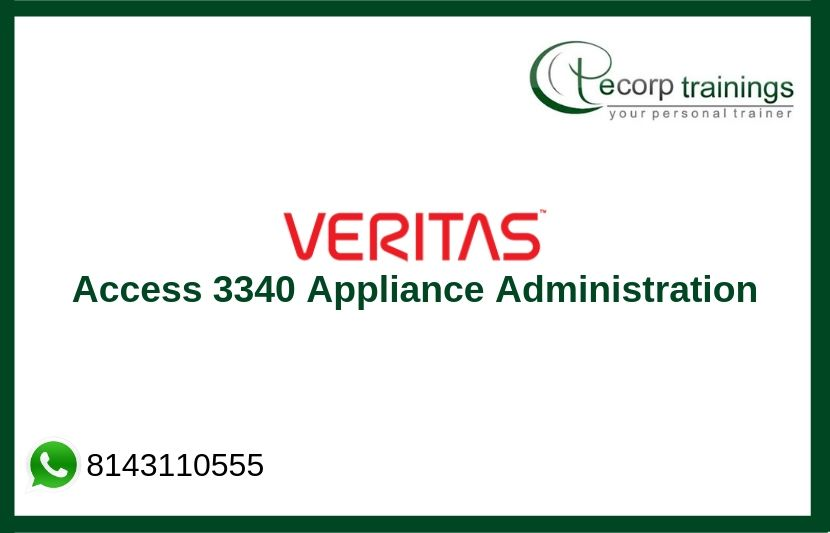 Veritas Access 3340 Appliance: Administration Training